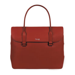 Plume Elegance Laptop Tote Bag 13inch Ruby FRONT