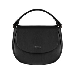 Plume Elegance Saddle Bag BLACK FRONT