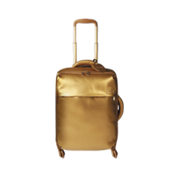 Gold 4 Wheel Cabin Luggage Bag By Lipault