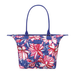Blooming Summer Tote Bag S Flower Pink Blue FRONT
