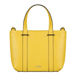 By the Seine Nano Tote Bag Lemon Yellow FRONT