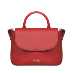 Red Leather Strap Handbag By Lipault