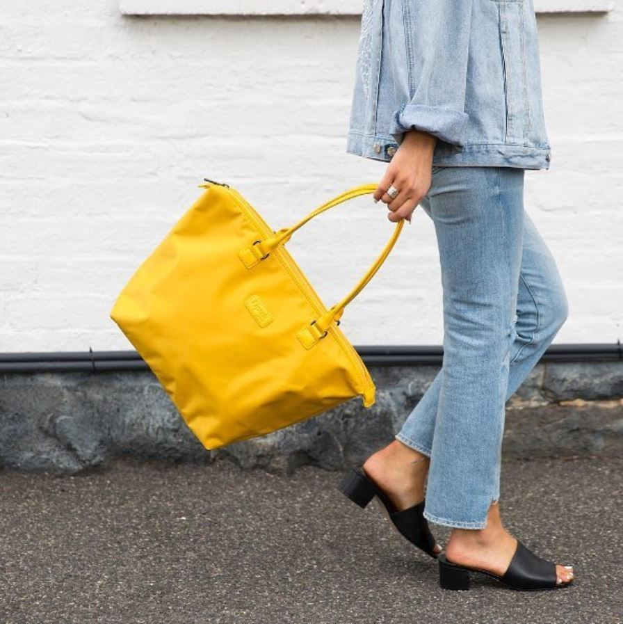 Be Visible While Walking With A Lipault Yellow Tote Handbag